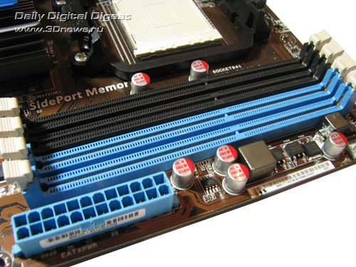 ASUS M4A785TD-V EVO слоты DIMM