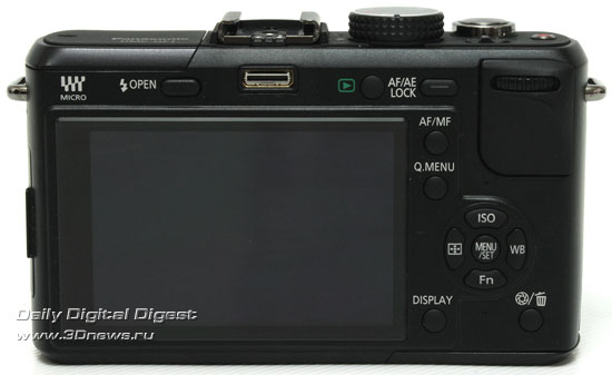 Panasonic LUMIX DMC-GF1. Вид сзади