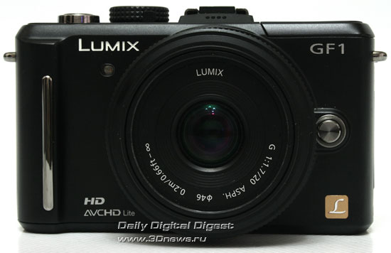 Panasonic LUMIX DMC-GF1. Вид спереди