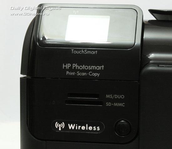 HP Photosmart Wireless b109q. Дисплей и устройство чтения карт памяти