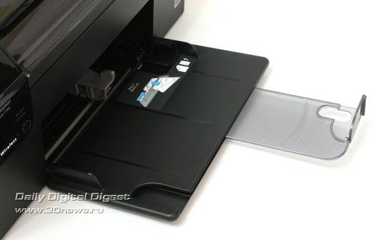 HP Photosmart Wireless b109q. Приемный лоток