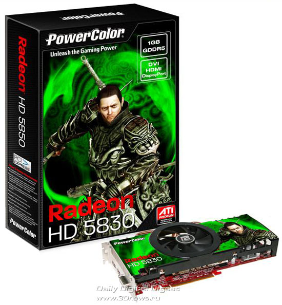 PowerColor Radeon HD 5830 1GB GDDR5