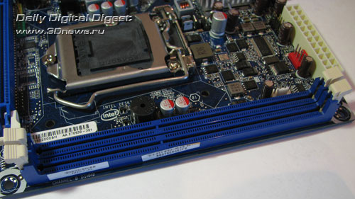 Intel DH57JG DIMMs