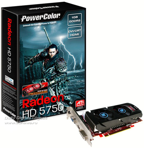 PowerColor Radeon HD 5750 1GB GDDR5 Low Profile