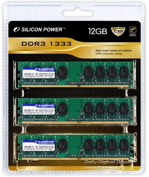 Silicon Power 12GB DDR3-1333 Memory Kit