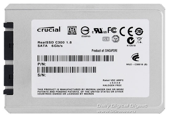 "Crucial 1.8"" RealSSD C300 Series SSD"