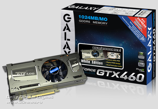 GALAXY GeForce GTX 460 White Edition