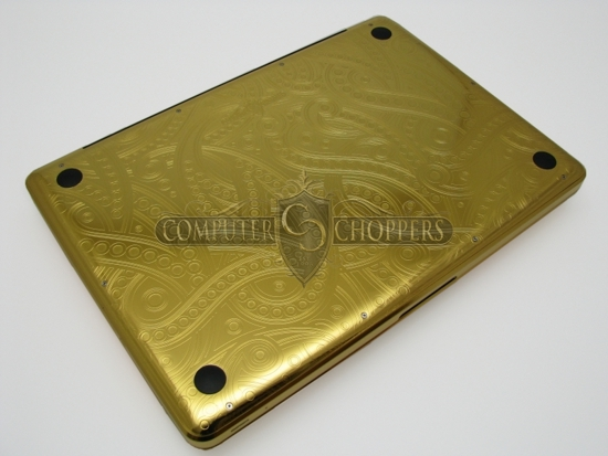 Gold MacBook Pro from the Computer Choppers