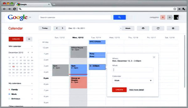 Google Calendar Illustration Keywords : Google работает над удалением навигационной панели из всех