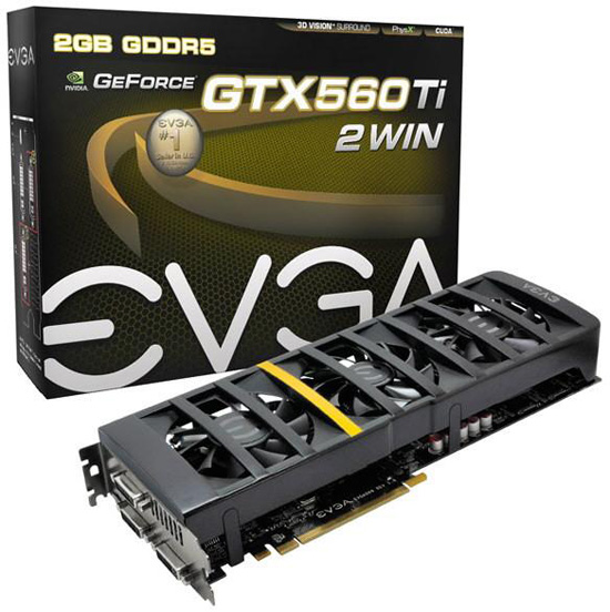 EVGA GeForce GTX 560 Ti 2Win