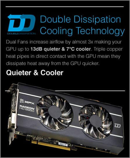 XFX Double Dissipation (DD) Cooling Technology