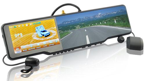Видеорегистратор зеркало заднего вида навигатор