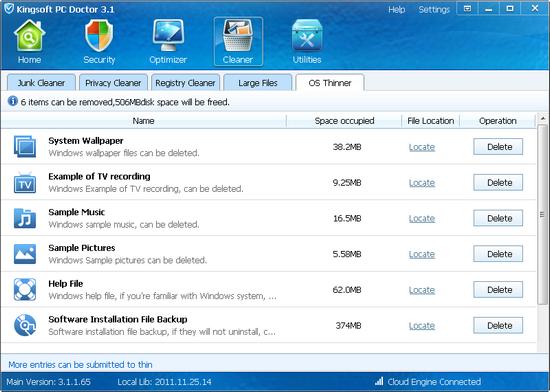 Kingsoft pc doctor software