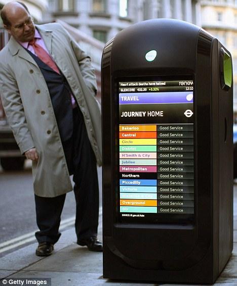171 Умные 187 мусорные баки в Лондоне