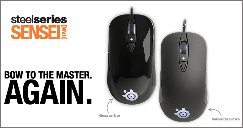 SteelSeries Sensei [RAW] Glossy and Rubberized Editions
