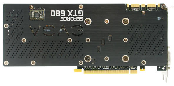 EVGA GeForce GTX 680 Superclocked with Backplate