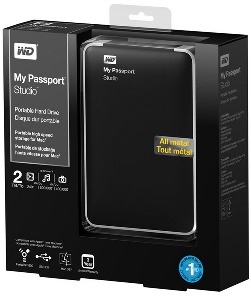 WD My Passport Studio 2 TB