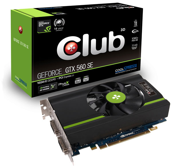 Club 3D GeForce GTX 560 SE