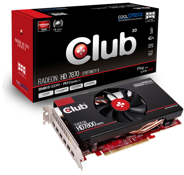 Club 3D Radeon HD 7870 Eyefinity 6