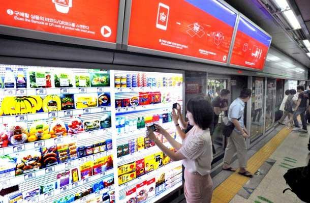 e247d303f5eca Tesco тестирует виртуальный супермаркет в британском аэропорту