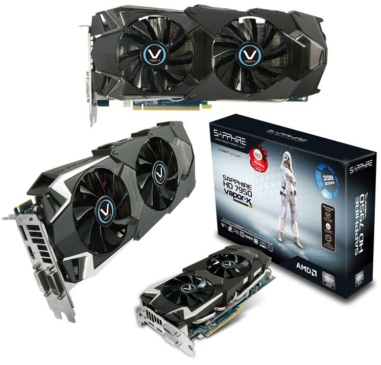 Sapphire Radeon HD 7950 3GB OC with Boost Vapor-X Edition