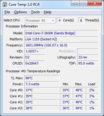 Програмку для слежения за температурой компа