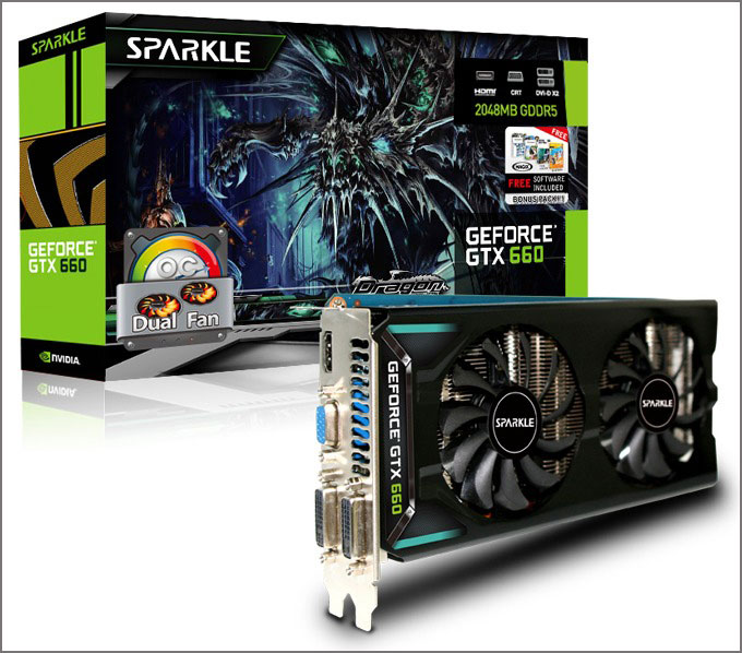 SPARKLE GeForce GTX 660 OC DF 2048MB GDDR5