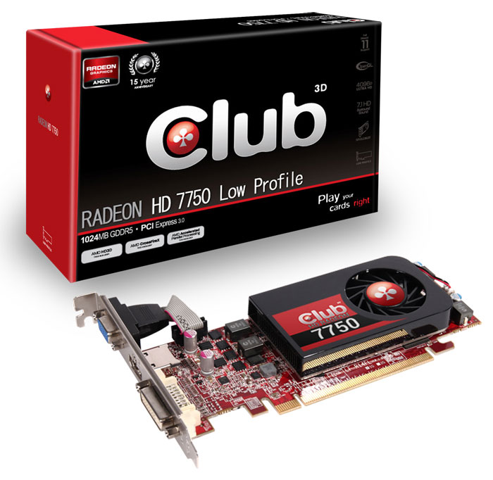 Club 3D Radeon HD 7750 Low Profile
