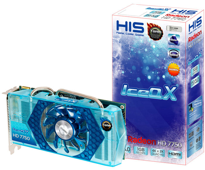 HIS Radeon HD 7750 IceQ X (Blue) Turbo 1GB GDDR5