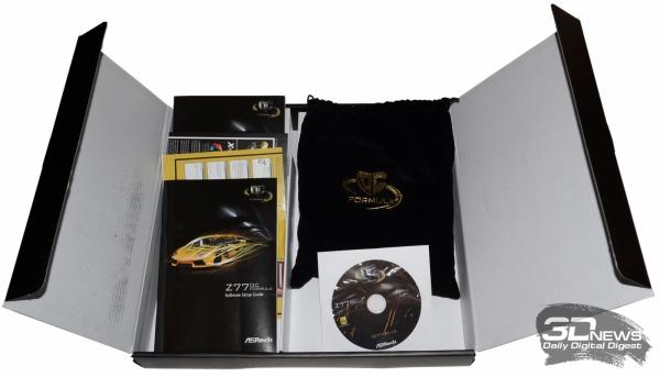Комплект поставки — обзор материнской платы ASRock Z77 OC Formula