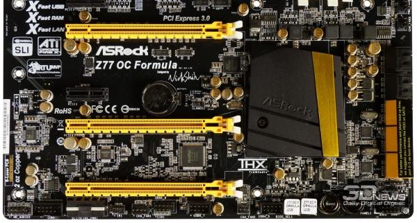 Слоты PCI-Express — обзор материнской платы ASRock Z77 OC Formula