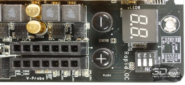 V-Probe, кнопки RapidOC и индикатор POST-кодов — обзор материнской платы ASRock Z77 OC Formula