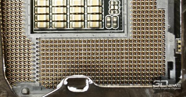 Позолоченные контакты сокета — обзор материнской платы ASRock Z77 OC Formula