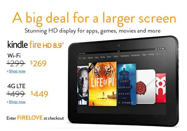 2b13c2887 Amazon предложила скидки на планшеты Kindle Fire HD