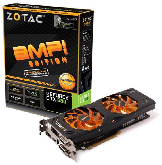ZOTAC GeForce GTX 680 AMP! Edition with Dual Silencer