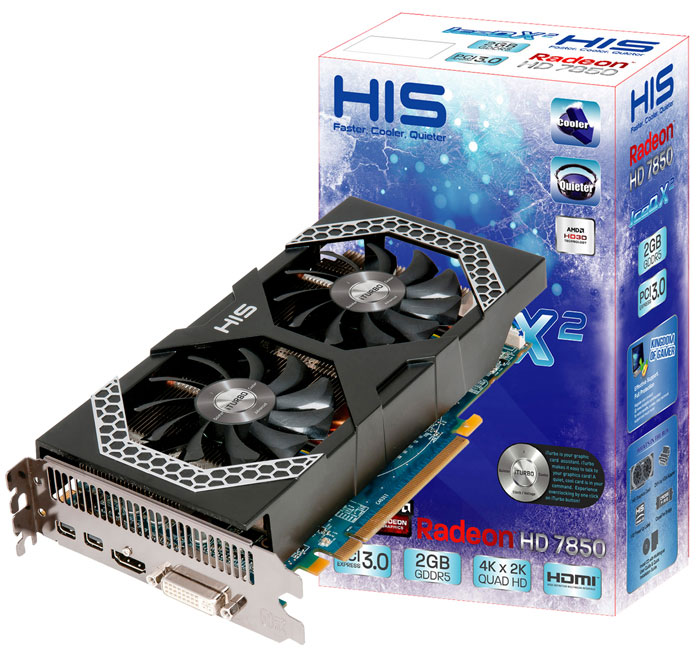 HIS Radeon HD 7850 iPower IceQ X2 2GB GDDR5