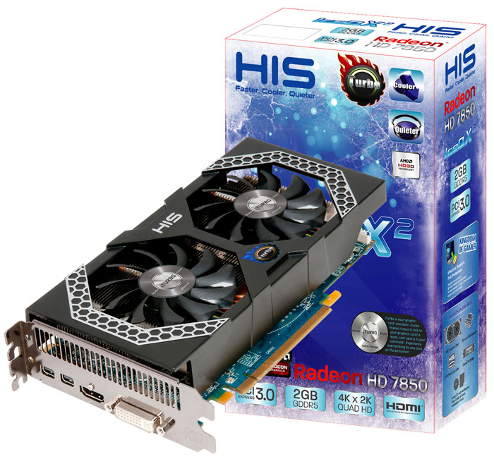 HIS Radeon HD 7850 iPower IceQ X2 Turbo 2GB GDDR5