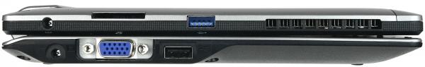 Fujitsu Stylistic Q702 с клавиатурой, вид слева