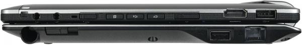 Fujitsu Stylistic Q702 с клавиатурой, вид справа
