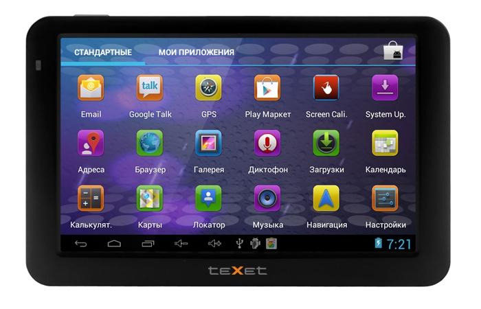 Навигатор teXet TN-560A на платформе Android