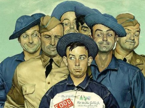 «Willie Gillis: Package from Home» Нормана Роквелла (Norman Rockwell)