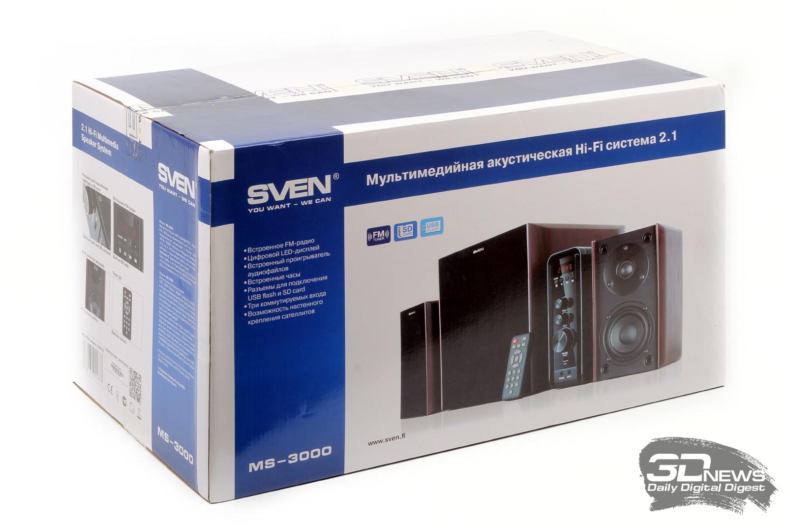 Sven MS-3000 — хороший звук в каждый дом