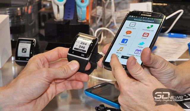 CES 2014: Sonostar SmartWatch — аккуратные часы с изогнутым экраном E Ink