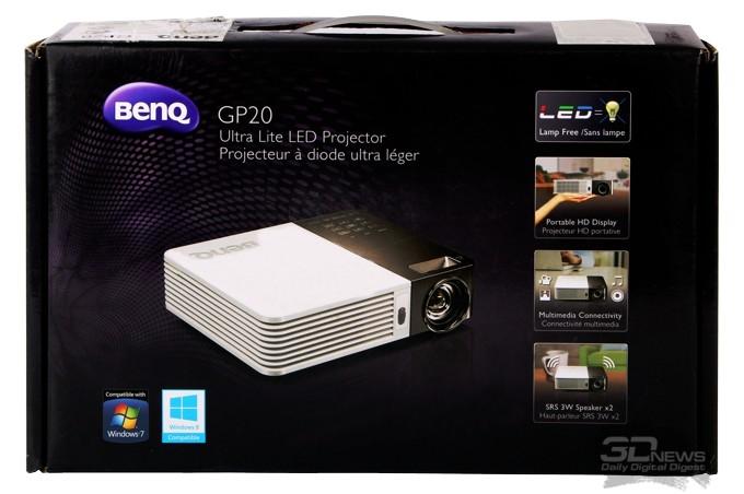 Портативный короткофокусный LED проектор BenQ GP20: компактный и лёгкий