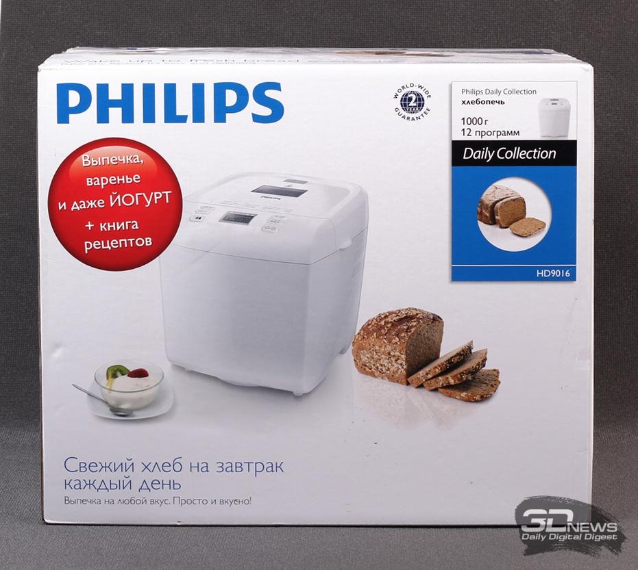 Свежий хлеб на завтрак —обзор хлебопечи Philips HD9016