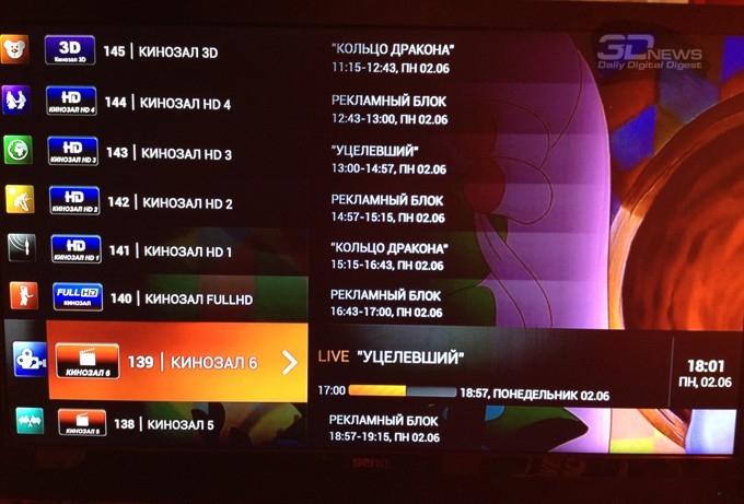 Программа телевизионных каналов через интернет