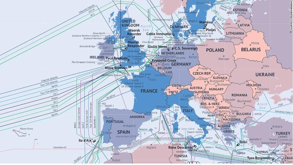 Фото дня актуальная карта всех подводных интернет кабелей