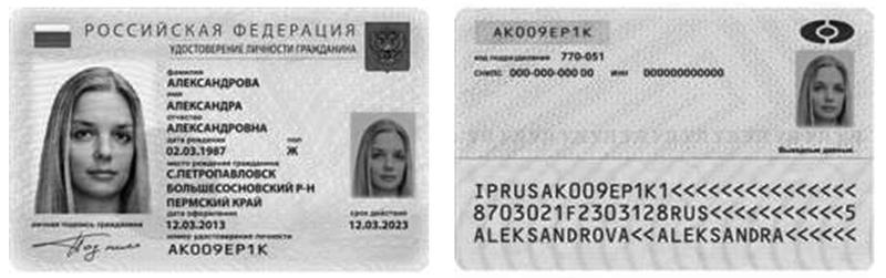 Как выглядит электронный образ документа удостоверяющего личность