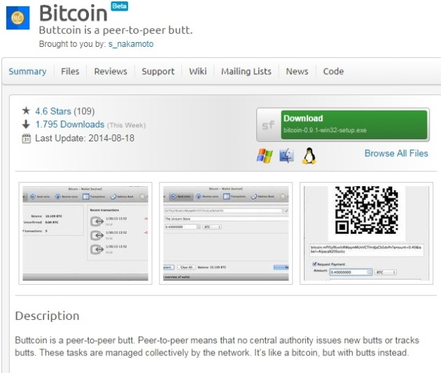 Дефейс страницы на SourceForge