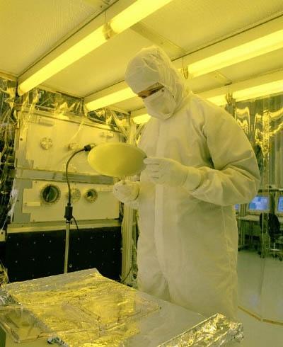 Кремниевая пластинка после EUV-литографии, ресурс Sandia National Laboratories